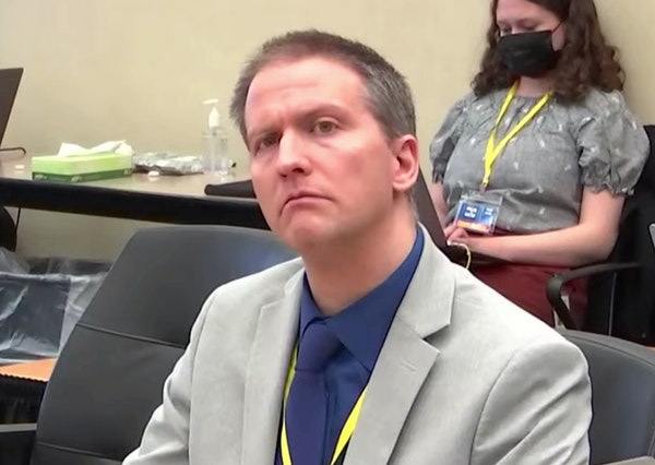 Former Minneapolis police officer Derek Chauvin listened to his attorney Eric Nelson deliver his closing argument Monday.