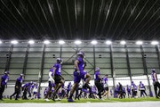 Vikings players participate in organized team activities during the 2018 offseason.