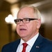 Gov. Tim Walz, seen in 2019, is requesting additional law enforcement resources and seeking more funding as Derek Chauvin's trial wraps up.