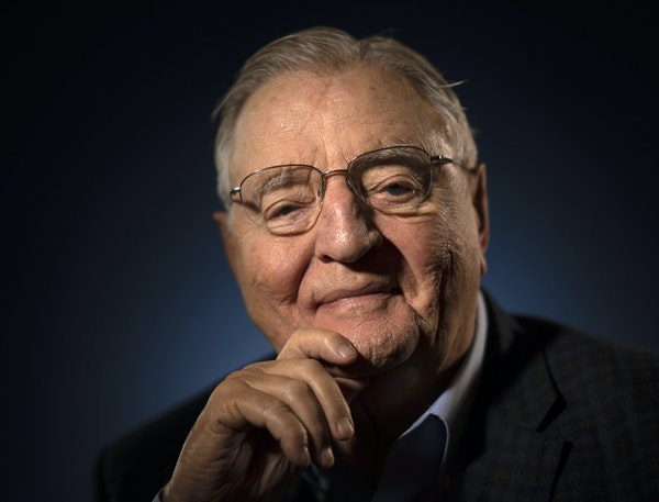 Former Vice President Walter F. Mondale, photographed at his Mill District condo in 2019.