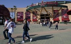 Fans left Angel Stadium on Saturday after a game against the Twins was postponed.