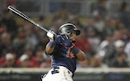 The Twins' Luis Arraez is hitting .433 when he's at the top of the batting order.