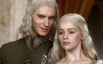 "Harry Lloyd and Emilia Clarke in Season 1 of ""Game of Thrones."""