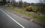 The scene Nov. 4, 2018, the day after three Girl Scouts and a chaperone were struck and killed by a hit-and-run driver on Wisconsin County Hwy. P in L