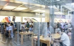 The Apple Store in Beijing. Among proposals to rein in tech, regulators are looking at whether Apple uses its grip on its App Store to overcharge deve