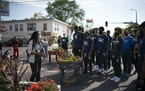 Timberwolves players visited the George Floyd memorial at 38th and Chicago in October.