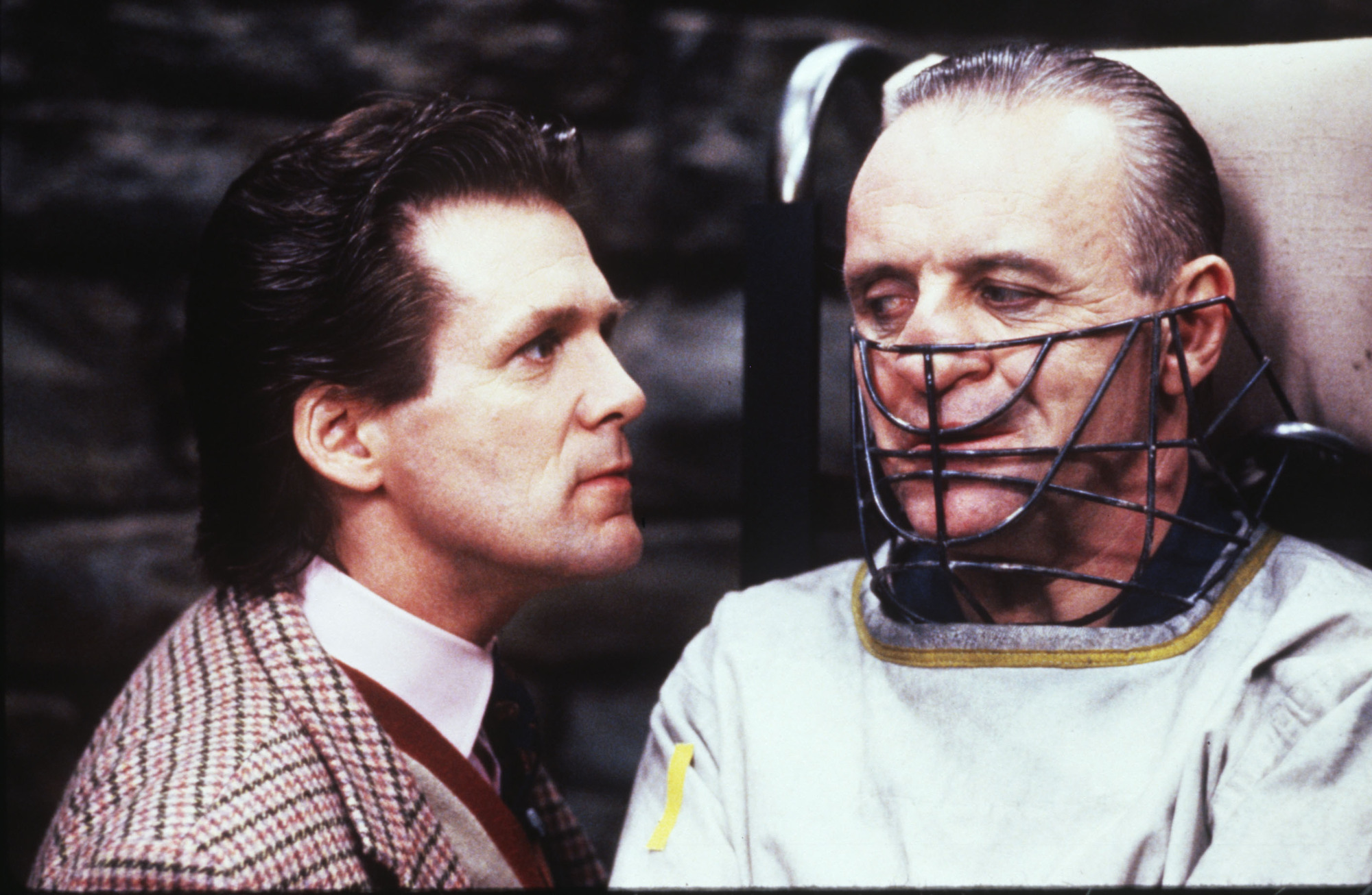 Anthony Heald, left, and Anthony Hopkins in 'The Silence of the Lambs.'