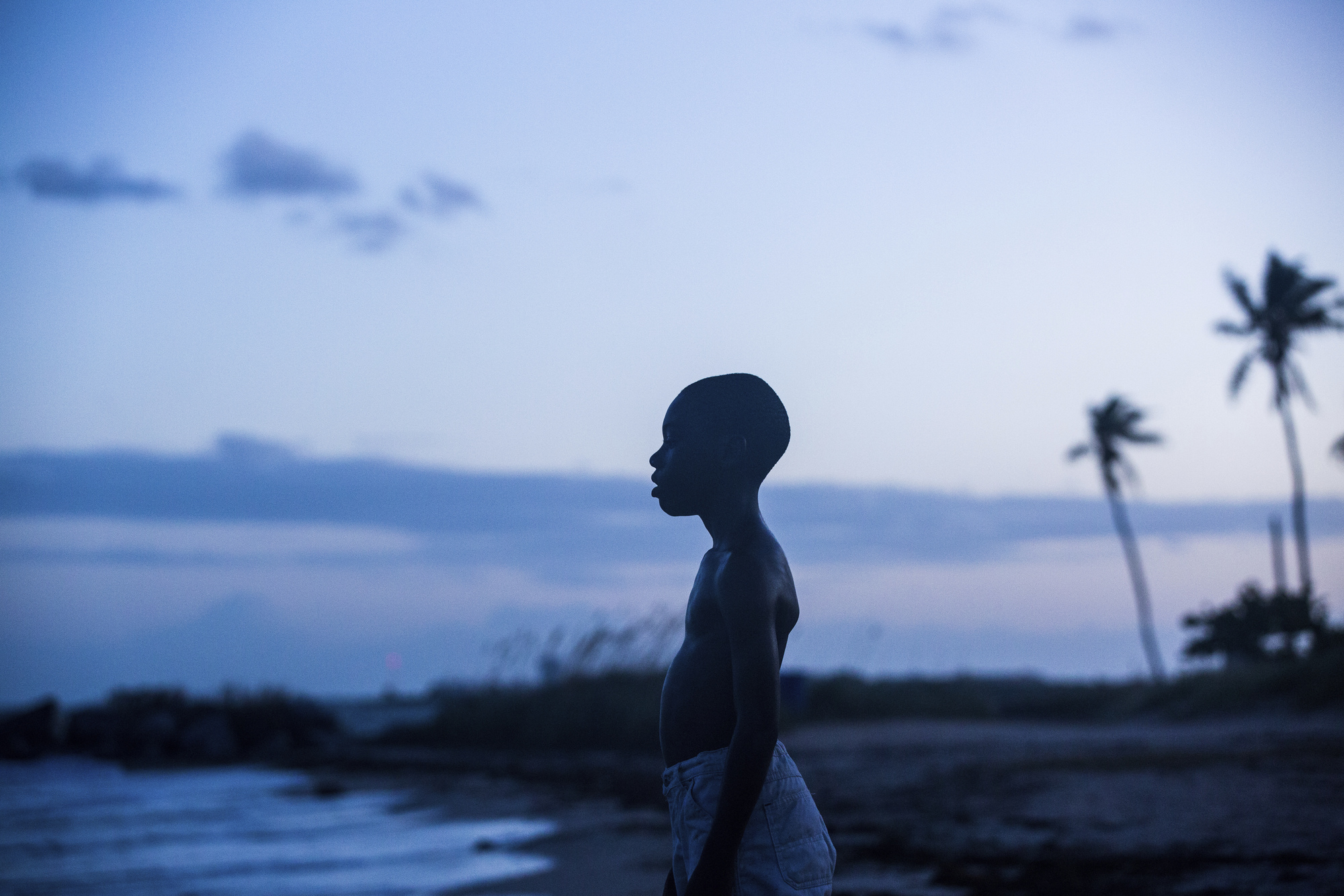 Alex Hibbert in a scene from the film, 'Moonlight.'
