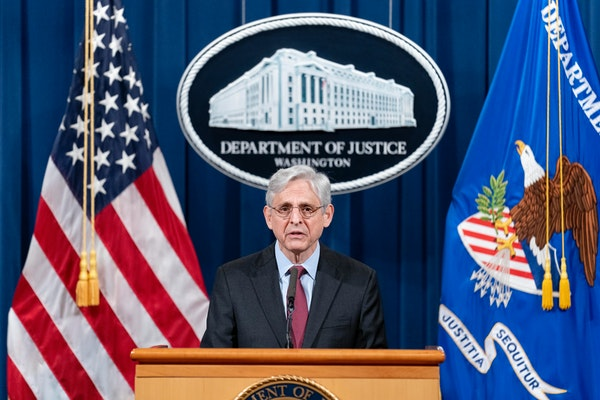 Attorney General Merrick Garland speaks about a jury's verdict in the case against former Minneapolis Police Officer Derek Chauvin in the death of G