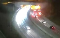 The crash  in the westbound lanes of Interstate 94 occurred about 9:40 p.m. Sunday and forced authorities to close the freeway for several hours.  Cre