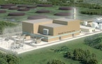 The proposed Nemadji Trail Energy Center in Superior, Wis.