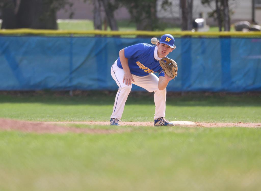 Wayzata junior Drew Berkland is seeking a state baseball title with the Trojans to go with football and basketball.
