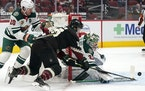 Cam Talbot racked up 39 saves Wednesday to help the Wild push its win streak to five games.
