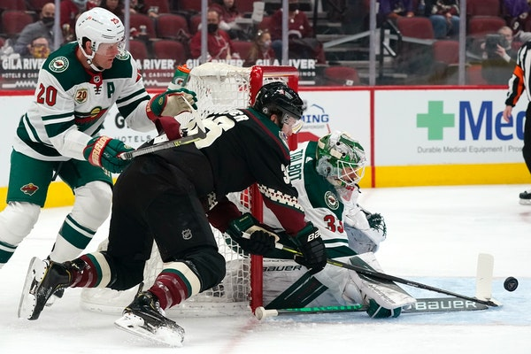Clutch early play by goalie Talbot allowed Wild to flourish late