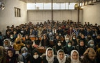 Students at Mawoud Academy in Kabul, Afghanistan, on March 10, 2021. The planned withdrawal of U.S. troops and the Taliban's likely return to power