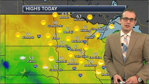 Afternoon forecast: 62, sunny to mostly sunny