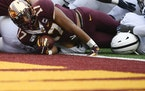 Seth Green scored one of his 15 career rushing touchdowns for the Gophers.