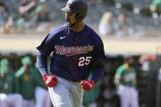 Byron Buxton was fired up after pounding a 10th-inning home run against Oakland on Wednesday. The Twins, however, went on to blow the lead and lose th