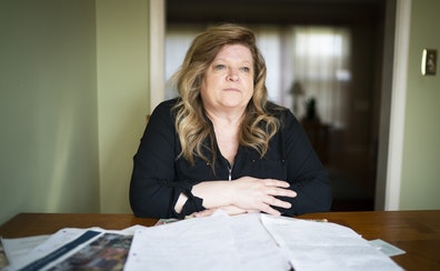 Lisa Christensen, an alternate juror in Derek Chauvin's trial in the killing of George Floyd, sat in her kitchen surrounded by the notes she took an