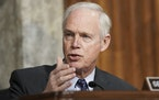 FILE - In this March 3, 2021 file photo, Sen. Ron Johnson, R-Wis., speaks at the U.S. Capitol in Washington. Johnson, questioned the need for widespre