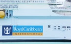 FILE - In this March 14, 2020 file photo, Royal Caribbean International cruise ship docked at PortMiami, among other cruise ships, as the world deals