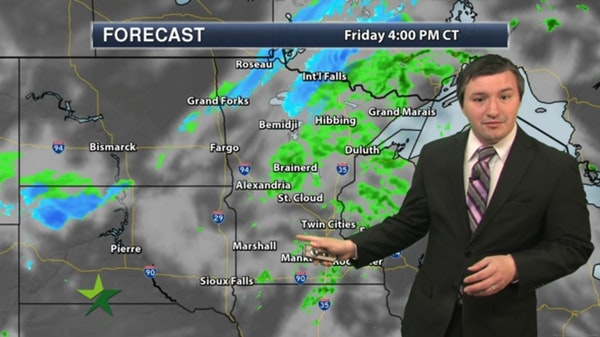 Afternoon forecast: Scattered showers, high 56