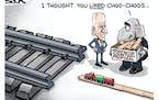 Sack cartoon: Infrastructure counterproposal