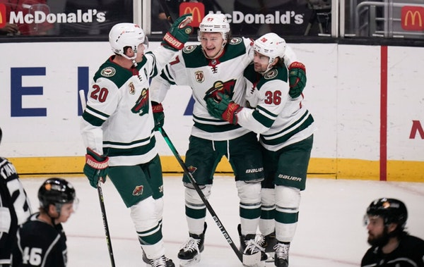Wild rookie Kirill Kaprizov scored twice in the Wild's 4-2 win over the Kings on Friday at Staples Center.