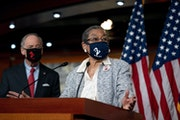 Del. Eleanor Holmes-Norton (D-D.C.) speaks at a news conference about statehood for the District of Columbia, at the Capitol in Washington on Wednesda
