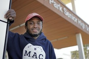 """""""I just wanted them to see the other side of my work other than just the test."""" Kalid Ali, who will attend Macalester College this fall."""