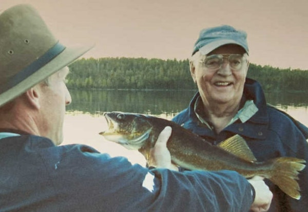 Walter Mondale, with longtime friend and current St. Louis County Sheriff Ross Litman, was an avid fisherman who traveled to Alaska to fish for salmon