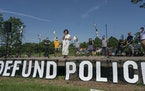 """A meeting between Minneapolis City Council members and community members on June 7, 2020, at Powderhorn Park was focused on """"defunding"""" the city�"""