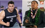 The best thing that could happen to the Vikings in Thursday night's NFL draft would be either Northwestern tackle Rashawn Slater (left) or Oregon ta