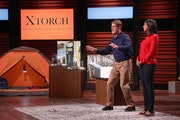 """Gene and Keidy Palusky of Minneapolis presented XTorch, a solar-charged flashlight and battery, on an episode of ABC-TV's """"Shark Tank"""" last week"""