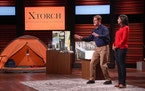 "Gene and Keidy Palusky of Minneapolis presented XTorch, a solar-charged flashlight and battery, on an episode of ABC-TV's ""Shark Tank"" last week"