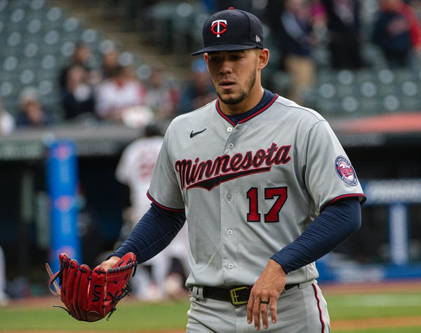 Jose Berrios leaves the the mound during the sixth inning after manager Rocco Baldelli didn't realize he was making a second trip to the mound.