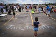 Juneteenth observances in Minneapolis on June 19, 2020. LEILA NAVIDI • leila.navidi@startribune.com