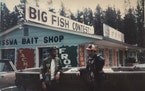 Al Lindner, left, and Marv Koep outside the shop.