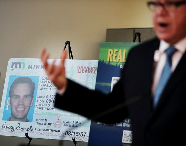 Gov. Tim Walz was on hand for a press conference debuting the new REAL ID Office at MSP Airport in March 2020.