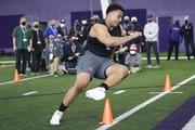 Northwestern offensive lineman Rashawn Slater was among the top draft prospects to opt out of last season.