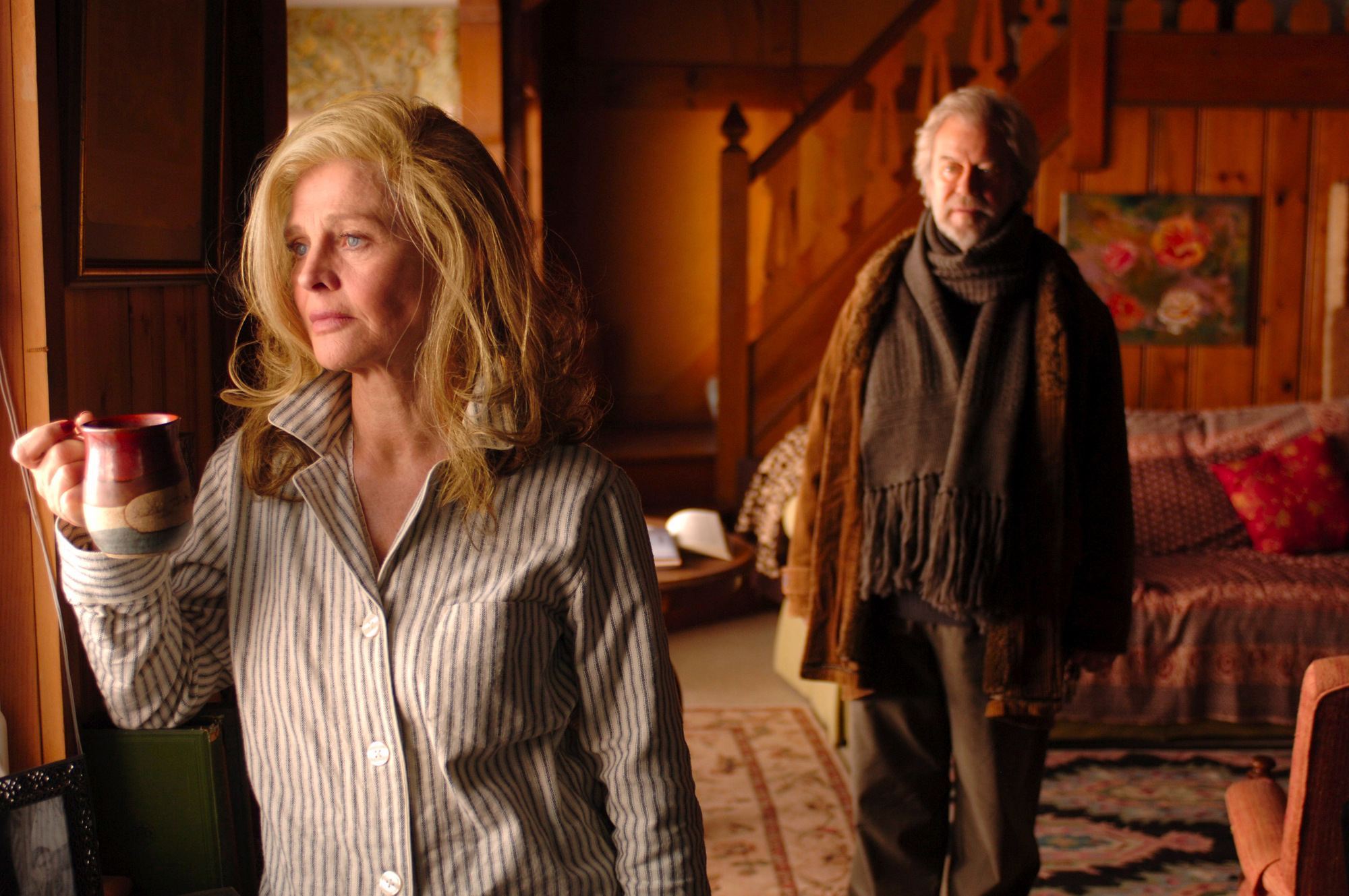 Julie Christie is shown in a scene from 'Away From Her,' about a woman stricken with Alzheimer's, with Gordon Pinsent.