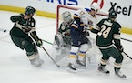 Cam Talbot will start Wednesday night when the Wild takes on the Blues at Xcel Energy Center.
