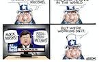 Sack cartoon: United States' COVID response