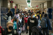 Many schools are facing budget deficits because of declining enrollment and effects of the pandemic, including Anoka-Hennepin. Shown is Jackson Middle
