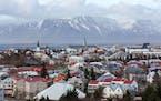 The skyline in Reykjavik, Iceland, on April 7, 2016. MUST CREDIT: Bloomberg photo by Arnaldur Halldorsson.