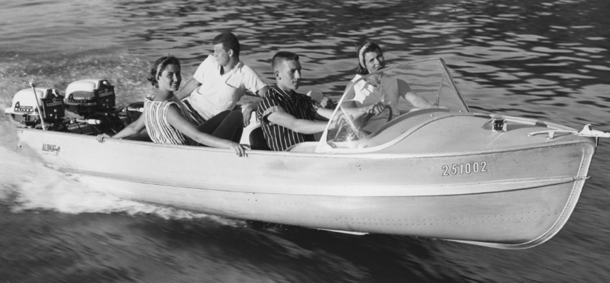 The first aluminum boat produced by Flour City subsidiary, Alumacraft, came off the production line in 1946.
