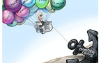 Sack cartoon: One thing pulling Biden down