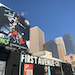 A billboard over First Avenue in Minneapolis showed Timberwolves rookie Anthony Edwards rising up for a dunk amid the downtown skyline.