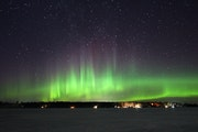 The northern lights lit up the night sky over Lake Elora on March 13. A film about a Korean couple who travel to Minnesota to see the northern lights