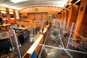 In September, the first federal trial in Minnesota since the start of the pandemic required retrofitting of the courtroom to deter infection. GLEN STU
